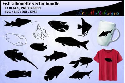 Fish svg silhouette / sea fish svg bundle