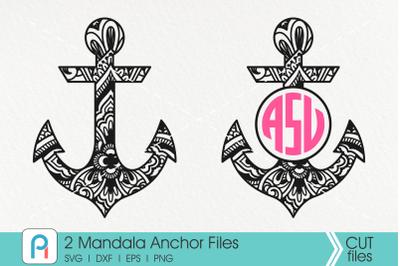 Mandala Anchor Svg, Zentangle Anchor Svg, Anchor Svg