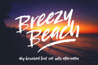 Breezy Beach: a dry brush font