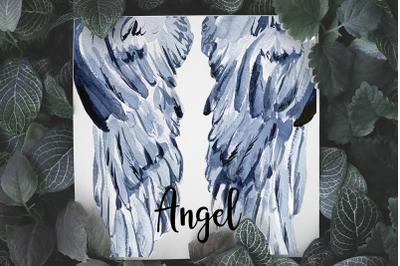 Angel Wings - Watercolor Clip Art and Print