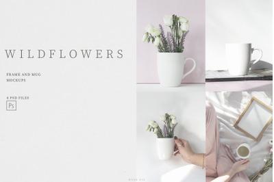 Wildflower Frame and Mug Mockups