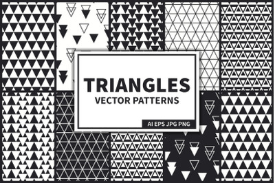 Triangles Vector Seamless Pattern
