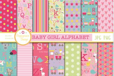 Baby Girl Alphabet paper