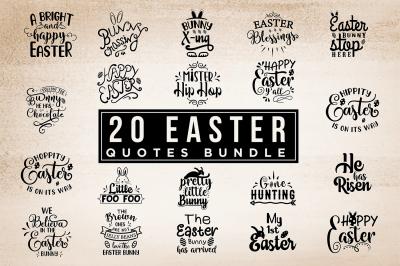 20 In 1 Easter Bundle Vol.1 - Easter SVG Cut Files
