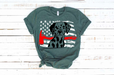 Firefighter Dalmatian USA Flag SVG 4th July Breed department 1693s