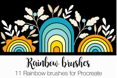 11 Rainbow brushes for Procreate
