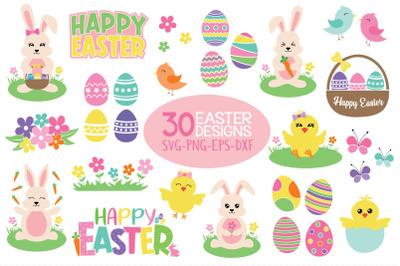 Easter Bundle Svg, 30 Easter Designs
