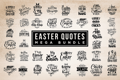 Easter Quotes Bundle - Easter SVG Cut Files