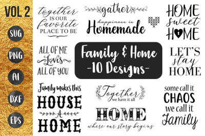 FAMILY and HOME - Vol2 - SVG Cut File - Cricut & Silhouette
