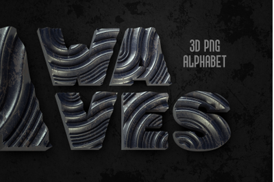 Waves PNG Alphabet