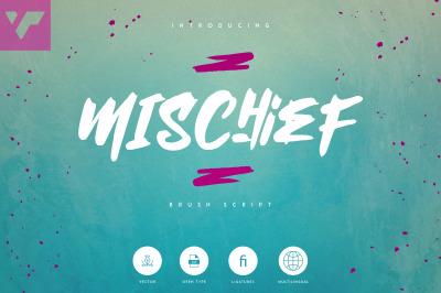 Mischief - Brush font + Extras