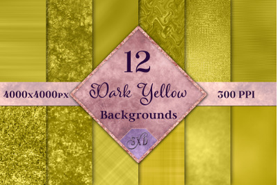 Dark Yellow Backgrounds - 12 Image Set