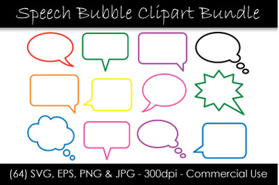 Outline Speech Bubble SVG Bundle