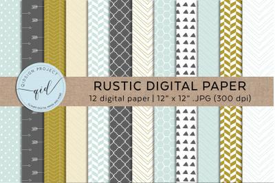 Rustic Digital Hand Drawn Paper Pattern