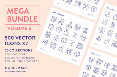 Line Icons - Mega Bundle Vol 6