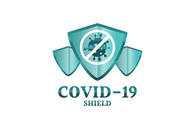 Coronavirus, shield, protection, immune vector symbol.