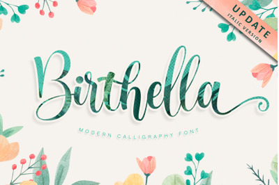 Birthella || Modern Calligraphy