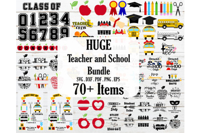 HUGE Teacher, bus,school,apple bundle SVG,PNG,DXF,EPS,PDF