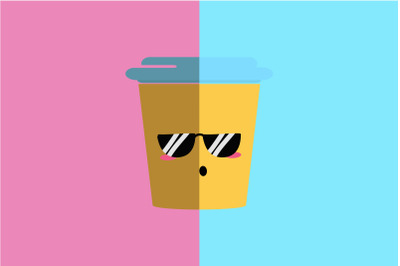 Kawaii Cute Tea Cup Illustration