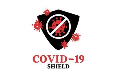 COVID-19, shield, protection, immune vector symbol.