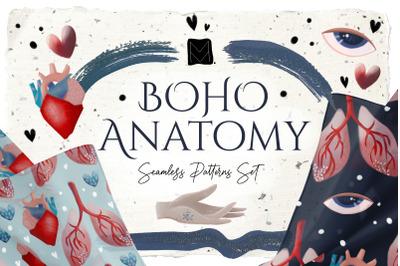 Boho Anatomy Seamless Patterns