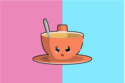 Kawaii Cute Cup Coffee Art