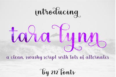 Tara Lynn Script Swash Font with tons of Alternates