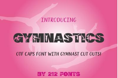 212 Gymnastics Caps Display Font Gymnast Alphabet OTF