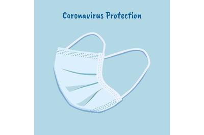 Protective disposable medical mask. Novel Coronavirus. Covid-19.