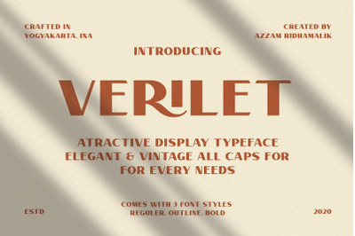 Verilet - Display Typeface
