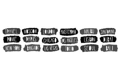 City names
