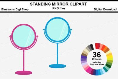 Standing Mirror Sticker Clipart, 36 files, multi colours