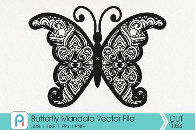 Butterfly Mandala Svg, Butterfly Svg, Mandala Svg,Flower Svg