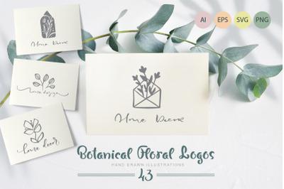Botanical floral logos SVG