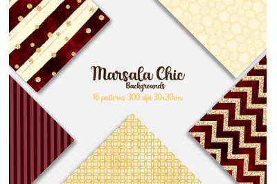 Marsala Chic Digital Papers
