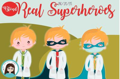 Real Superheros blond boys
