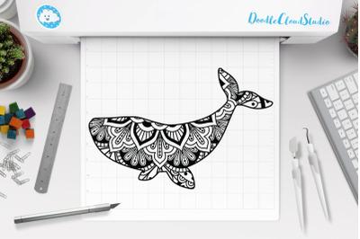 Whale Mandala SVG Cut Files, Whale Mandala Clipart