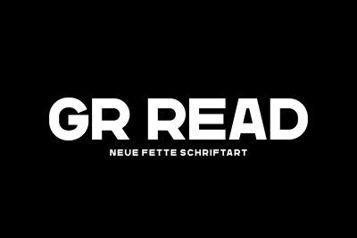 GR Read - Headline Font