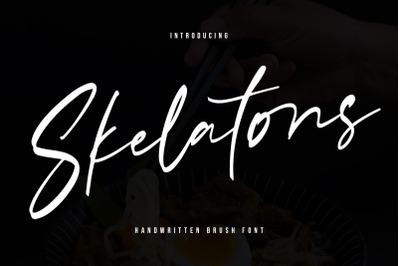 Skelatons Handmade Brush Font