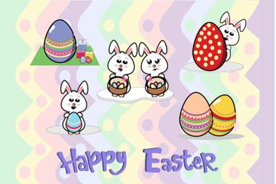 Easter  Vector Illustration  Bundle