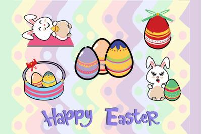 Easter Bunny Egg Vector 5  Bundle