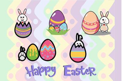 Easter Cute Bunny Egg Bundle