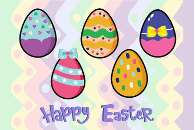 Easter Bunny Egg Vector Art