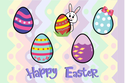 Easter Bunny Egg Vector Illustration