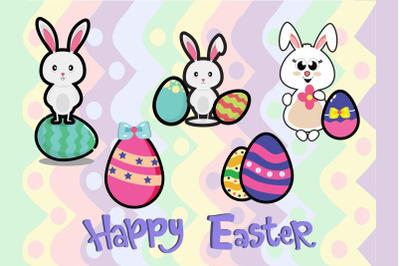 Easter Bunny Egg Art