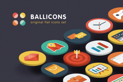 Ballicons — Original Flat Icon Set