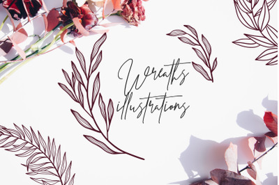 70 Wreath illustrations