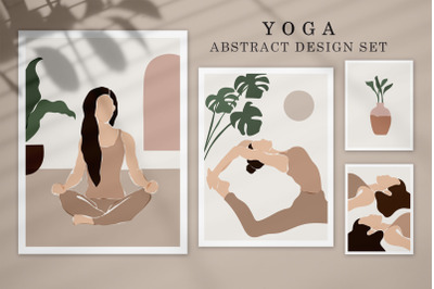 Yoga Abstract Design Set
