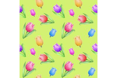 Spring tulip patterns