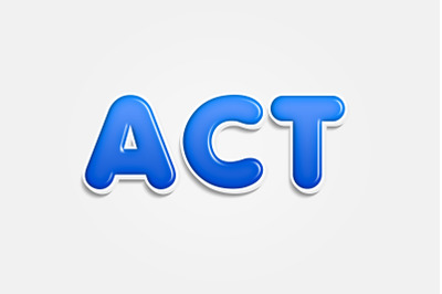 Act - 3D Text Style Effect PSD